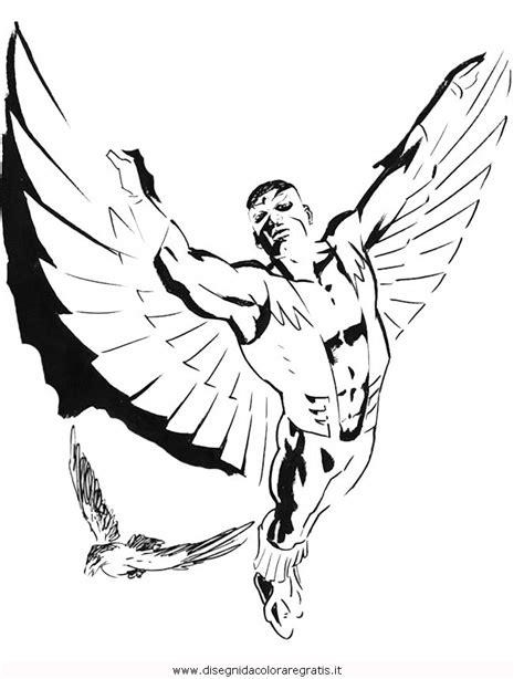 avengers coloring pages falcon disegno falcon 2 misti da colorare