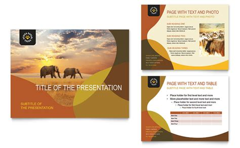powerpoint templates zoo free african safari powerpoint presentation powerpoint template