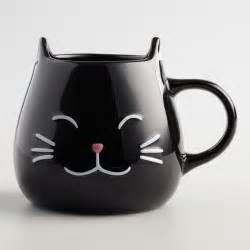 Kitchen Curtains Sale by Black Cat Mugs Set Of 2 World Market