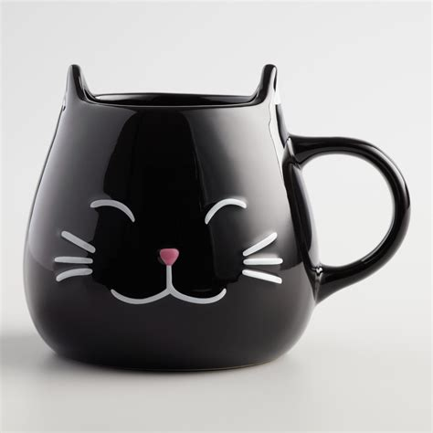 Cat Mug 1 black cat mugs set of 2 world market