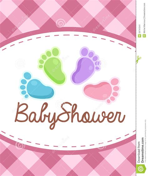 invite baby shower vector vector baby shower invitation stock image image 29741041