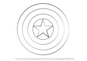 Shield Drawing Template by Learn How To Draw Captain America Shield Captain America