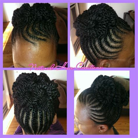 flat twist with weave flat twist updo natural hair black hair braid styles