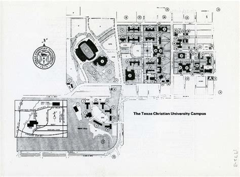 texas christian university map the texas christian university cus