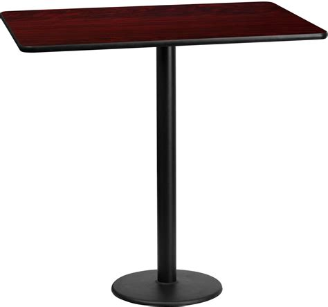 bar table tops and bases 60 quot rectangular mahogany laminate table top with 18 quot round