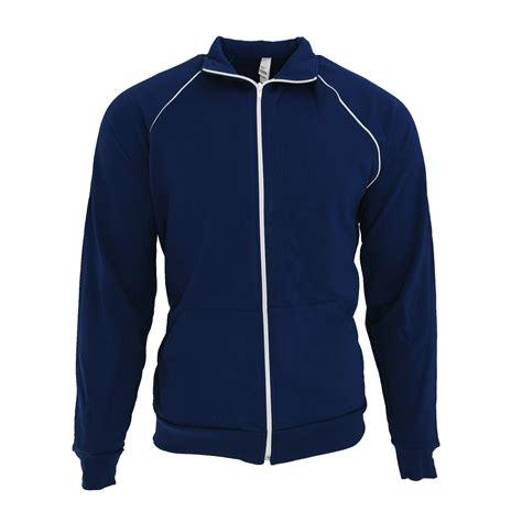 Jaket Sweater Hoodie Zipper Usa Athletic american apparel unisex california fleece zip sports track jacket ebay
