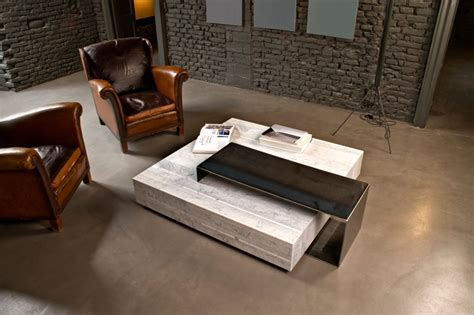 stone coffee tables with modern style ta volo by franz siccardi for salvatori 187 retail design blog