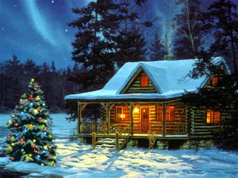 images of christmas in the country christmas cabin christmas landscapes