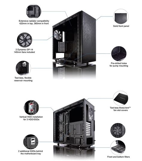 layout definition computer fractal design define s computer case mid tower no ps with