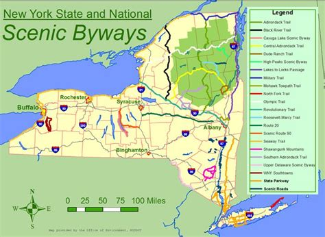 scenic byways nys map with scenic byways travel pinterest