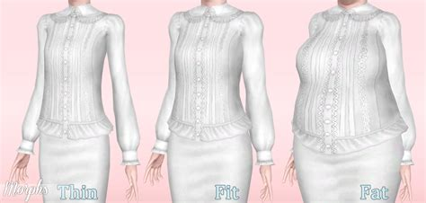 Olita Blouse mod the sims pintucks blouses with sleeves