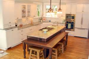 Table Height Kitchen Island by Countertop Heights And Overhangs Kitchen Design Tips