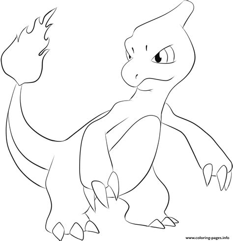 coloring page info 005 charmeleon coloring pages printable