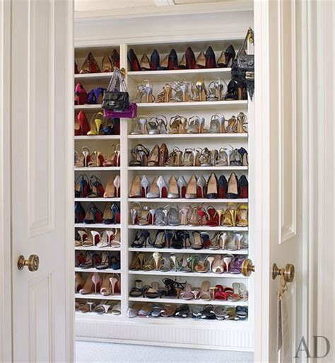 built in shoe shelves transitional closet