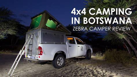 botswana camping   roof top tent zebra camper hire