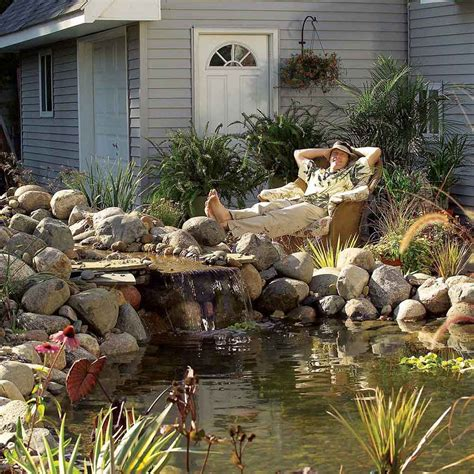 backyard fish pond maintenance pond fountain and waterfall projects you can diy family