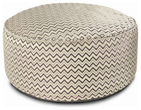 How To Make A Pouf Ottoman Missoni Home Golden Age Pop Leeka Pouf Ottoman Msh1847 Eclectic Floor Pillows And Poufs