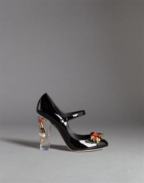 Dolce Gabbana Perspex Patent Dorsay by Coco Patent Leather Make Up Janes With Plexiglass