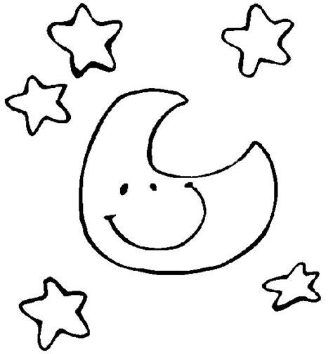 imagenes de luna sol y estrellas para colorear dibujo para colorear estrellas sol luna 4
