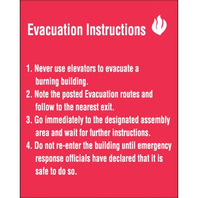emergency procedures in the workplace template evacuation emergency signs seton
