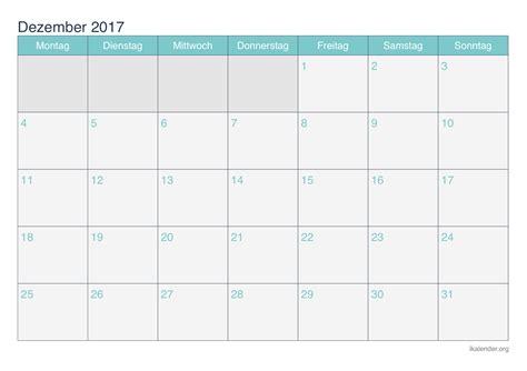 Kalender Dezember Kalender Dezember 2017 Kalender 2017