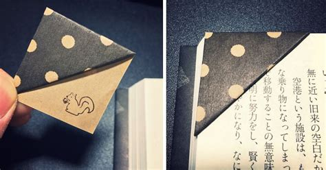 Paper Bookmarks - simple trick to make your own origami bookmarks bored panda