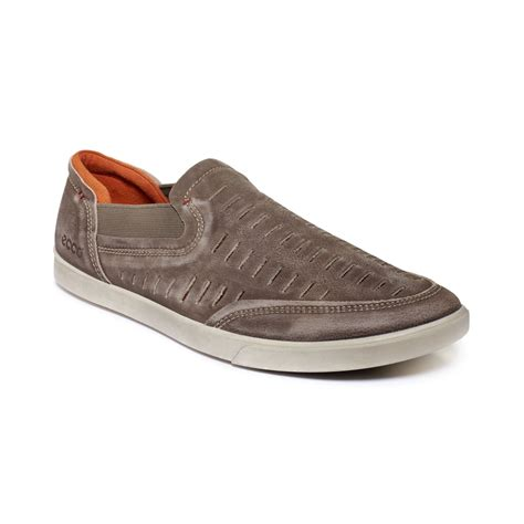 ecco loafers mens ecco collin trend loafers in gray for clay lyst