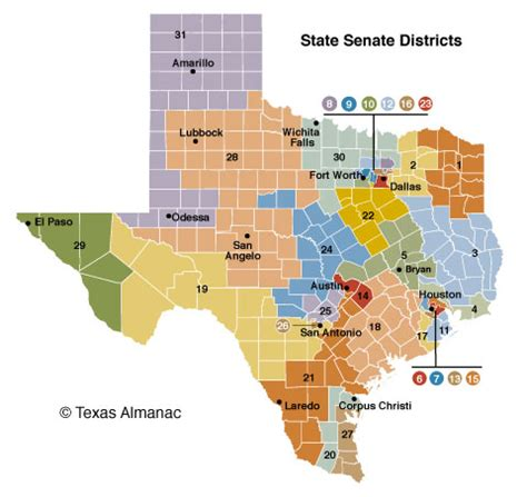 texas state legislature map 85th legislature senate texas almanac