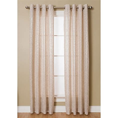 108 inch grommet curtain panels buy kailey 108 inch grommet top window curtain panel in