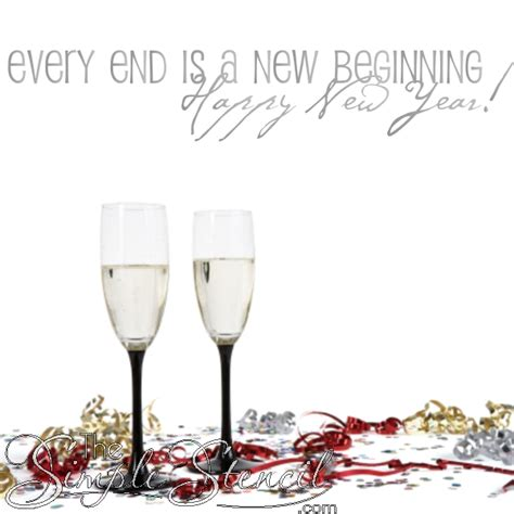 new years end new beginnings wall quote new year s decor