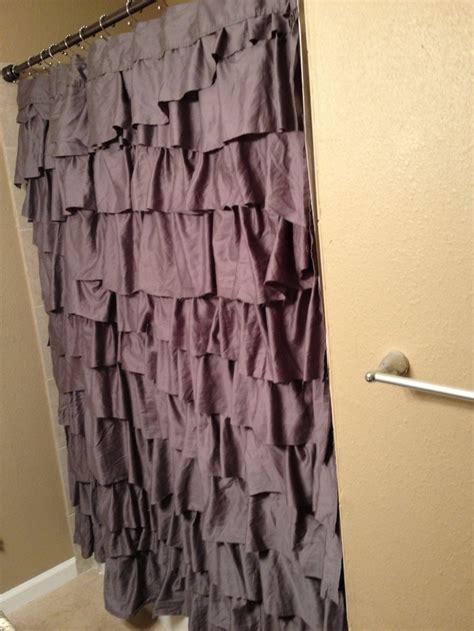 diy ruffle shower curtain my new ruffle shower curtain diy my house pinterest