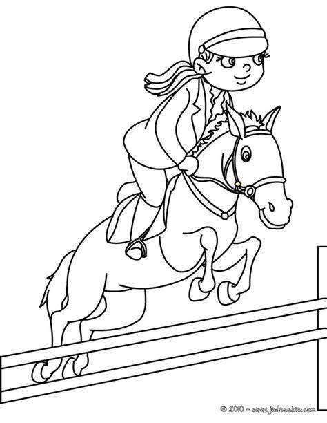 coloring page girl riding horse 20 dessins de coloriage cheval grand galop 224 imprimer