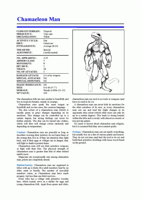 ad d 2e monster manual template