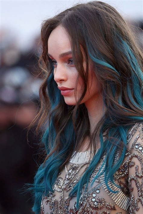 hairstyles and color for long hair 2016 top 25 blue hair streaks ideas for girls sheideas