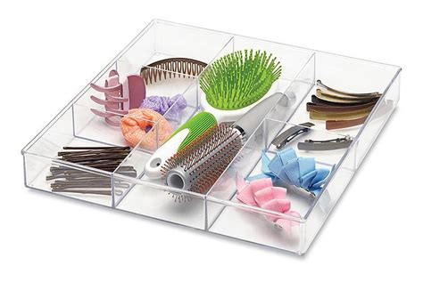 whitmor 6789 3065 6 section clear drawer