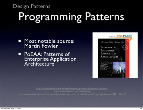 design pattern martin fowler software engineering in php