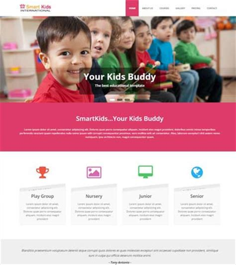 bootstrap templates for education free download latest educational free web template webthemez