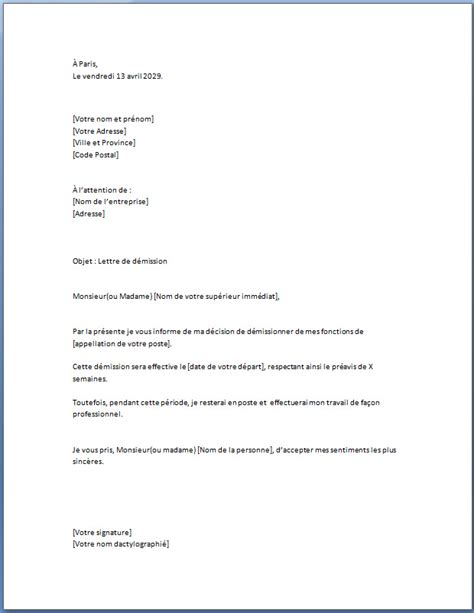 Exemple De Lettre De Démission Pour Raison De Santé Cover Letter Exle Exemple De Lettre De Motivation Simple