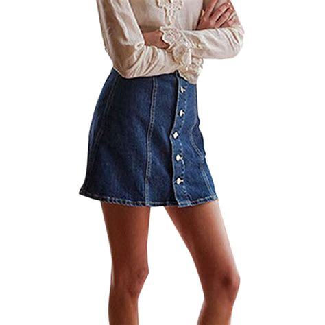 fashion summer plus size denim skirt high waisted