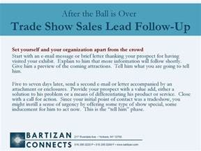 trade show sales follow up bartizan lead retrieval