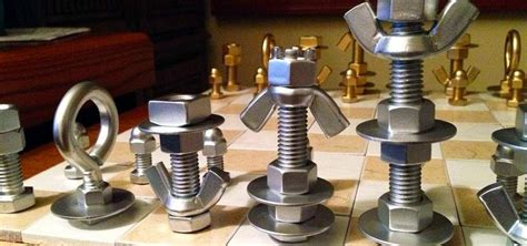 diy chess set how to make a macgyver style chess set using just nuts