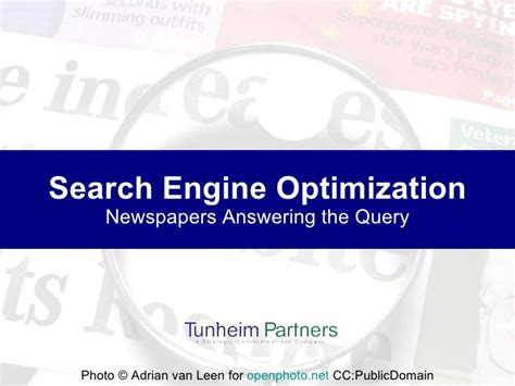 Search Engine Optimization Articles 1 by Search Engine Optimization For Newspapers