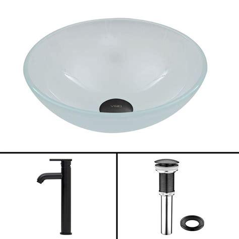 black vessel faucet polaris sinks glass vessel in black p046 black the