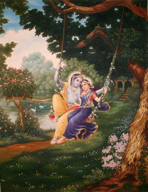 radha krishna swing radha krishna on a swing