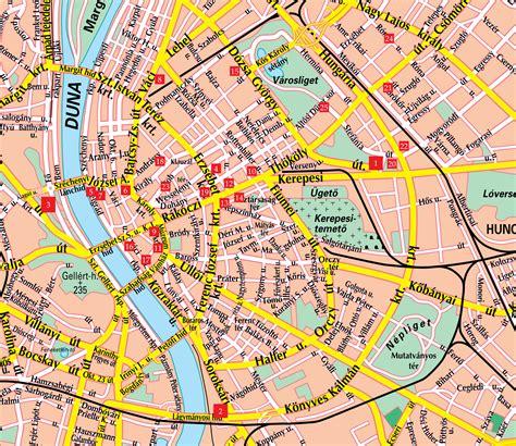 printable map budapest budapest street map budapest hungary mappery