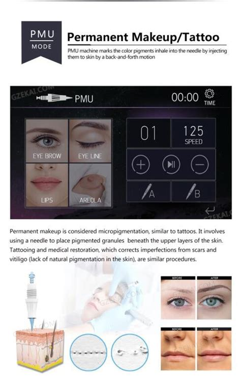 tattoo needle high speed camera high speed motor digital permanent makeup machine with