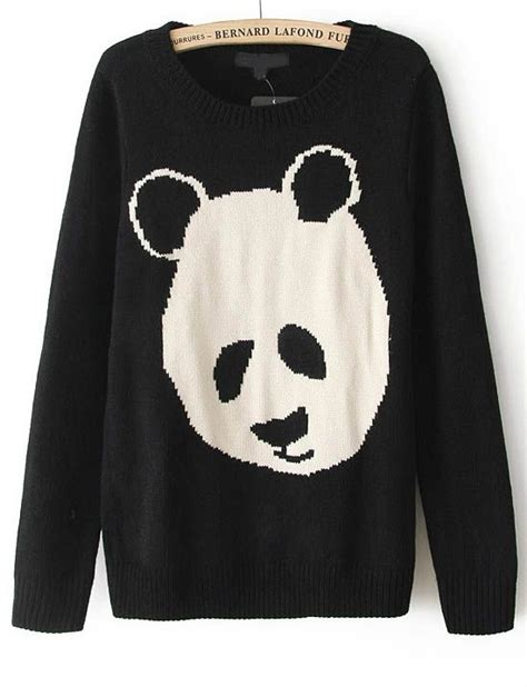Sweater Panda To pandas sweaters and sleeve on