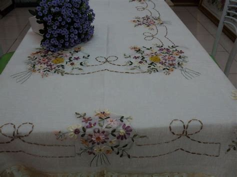 Embroidery Handmade Designs - handmade ribbon embroidery tablecloth china mainland