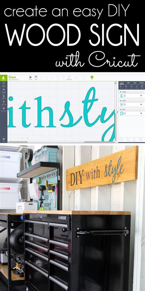 diy  style   create  easy diy wood sign