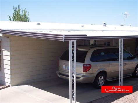 mobile home awning supports patio awning kit carport cover